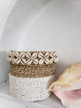 Load image into Gallery viewer, white dipped cowrie basket