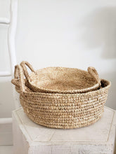 Load image into Gallery viewer, raffia basket trays