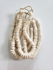natural white hand carved beads