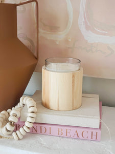 cozy wood candle