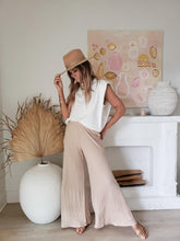 Load image into Gallery viewer, ribbed wide leg pants