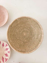 "Load image into Gallery viewer, 12"" natural and blush woven bowl"