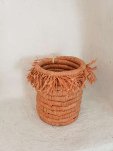 peach fringe seagrass cup