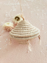 Load image into Gallery viewer, blush tassels basket ornament