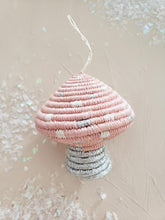 Load image into Gallery viewer, blush mushroom ornament