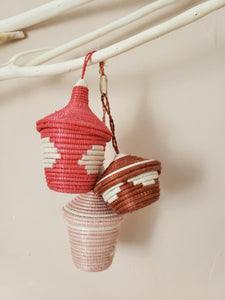 set of 3 basket ornaments