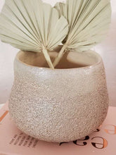 Load image into Gallery viewer, taupe stoneware planter