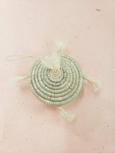 white tassels basket ornament