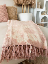 Load image into Gallery viewer, pink tie dye throw blanket