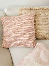 Load image into Gallery viewer, Pink knotted textured pillow