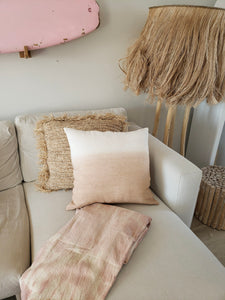 pink ombre linen pillow