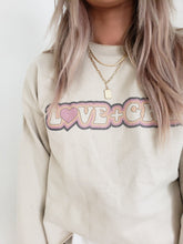 Load image into Gallery viewer, Love + Grey sweatshirt - 2 colors