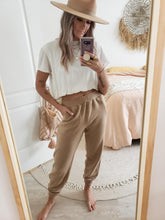 Load image into Gallery viewer, taupe jogger pant