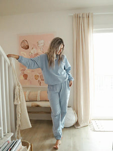 baby blue homebody sweat set