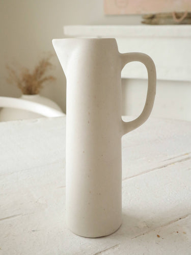 mini cream ceramic pitcher