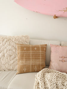 Beige indian wool pillow cover