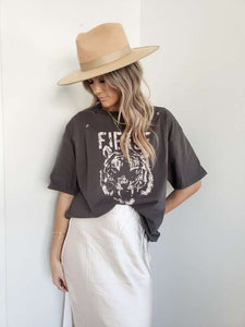 Grey fierce oversized tee
