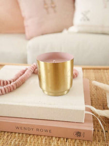 Pink pine mini gold candle