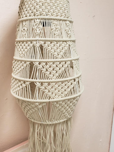 Macrame pendant light