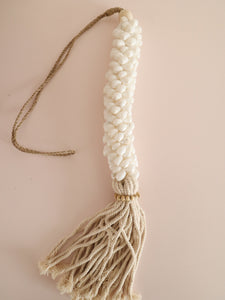 shell tassel wall hanging