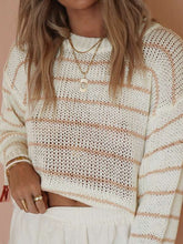 Load image into Gallery viewer, Piper peach striped sweater