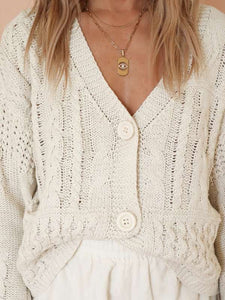 Peyton cable knit cardigan