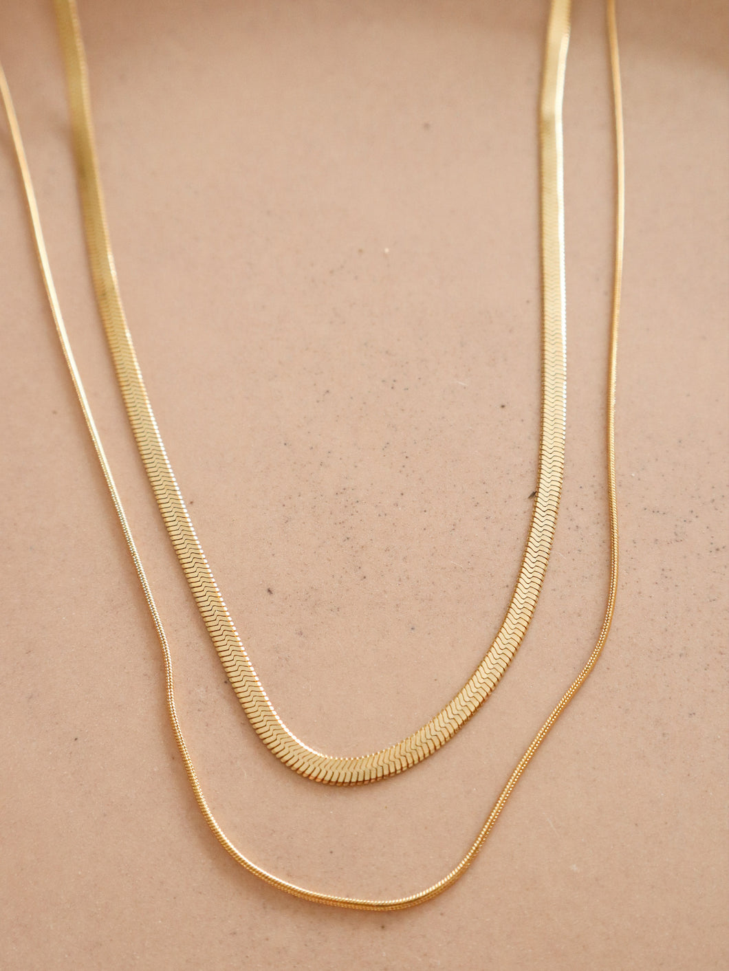 Cassia Double Chain necklace