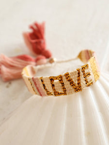 Yellow and gold love bracelet