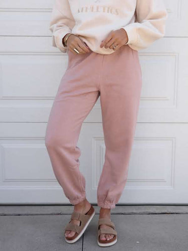 Dusty rose sweatpants