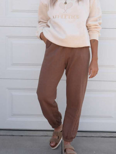 Chocolate brown sweatpants