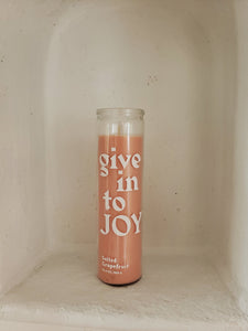 Give into joy Paddywax candle