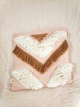Load image into Gallery viewer, Tribe pillow cover blush and tan