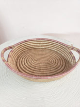 Load image into Gallery viewer, large pink woven tray