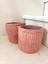 Load image into Gallery viewer, pink woven basket