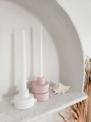 stackable ceramic candle holder