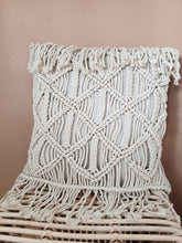 "Load image into Gallery viewer, 20"" macrame pillow"