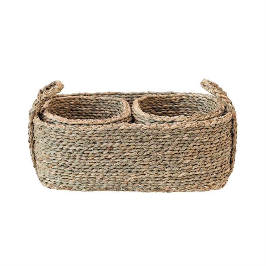 Seagrass nested baskets