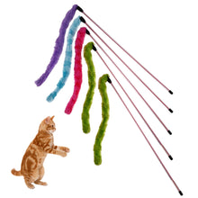Load image into Gallery viewer, Plush Stick Cat Teaser Toys  Set of 5