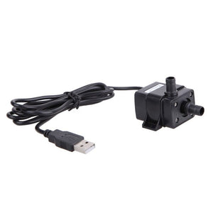 DC5V 3W USB Aquarium Water Pump Submersible Farmed Fish Tank Fountain Pond Water Pump Aquatic Pets Supplies