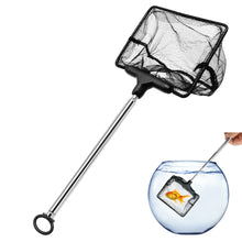 Load image into Gallery viewer, Portable Fish Net For Aquarium Fish Tank Aquario Fishing Net With Adjustable Stainless Steel Pole Handle Aquarium Filter Black