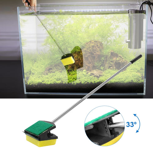 2 Side Fish Tank Brush Aquarium Glass Sponge Clean Brushes Flexible Aquatic Pump Cleaner Algae Scraper Aquarium Cleaning Tools