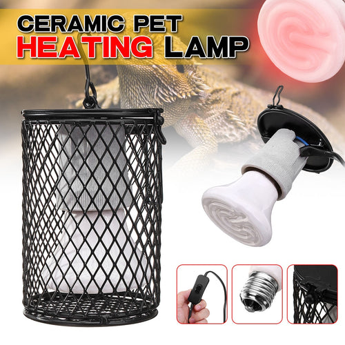 110V 220V Pet Heating Lamp Hook Design E27 100W Infrared Ceramic Transmitter Hot Reptile Pet Bulb Suitable for Reptile Pets