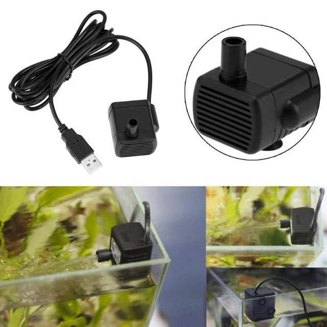 Mini Aquarium Water Pump DC 5V USB Motor Water Pump for Aquarium Fish Tank Submersible Fountain Aquatic Supplies