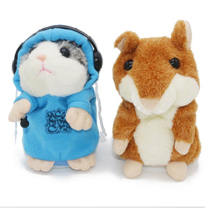 Talking Hamster Mouse Vole Headphone Pet Plush Toy Hot Cute Speak Talking Sound Record Hamster