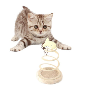 Mobile Interactive Plush Spring Plate Mouse or fish toy.  A Top Pet Product  Let your cat entertain themselves