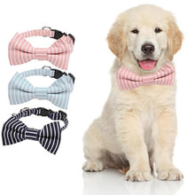 Load image into Gallery viewer, Soft Cotton Dog Collar Breathable Bow Puppy Necklace Leash for Dog Pet Accessories Supplies Safety Collars