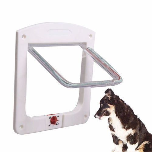 Pet Cat Puppy Dog Gates Door Lockable Safe Flap Door Kitten Pet safety products Lock Suitable for Any Wall or Door