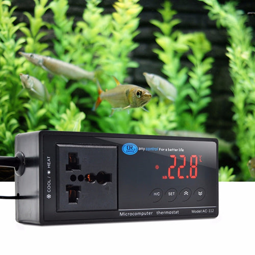 220V Digital LED Display Temperature Controller Thermostat For Aquarium Reptile Temperature Control Products UK/EU/US Plug C42