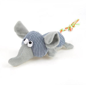 Pet Dog Plush Toy Cute Animal Funny Squeak Sound Molar Sound Chew Toys for Dog Cat Interactive Toy Pet Products
