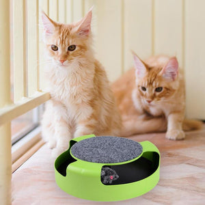Funny Cats Playing Turntable Toys with Shadowless Mouse Toy for Cat Kitten Pet Interactive Toys Cat Products Plastic